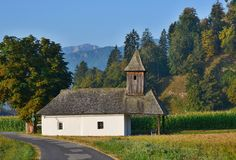 View of Chapel In Rosegg In Carinthia stock photos