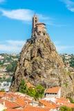 View at the Chapel Saint Michel d Aiguilhe near Le Puy en Velay - France Royalty Free Stock Image