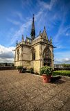 View of chapelle Saint-Hubert, France royalty free stock photo