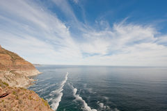 A view from Chapman's Peak Drive at Cape Town Royalty Free Stock Photo