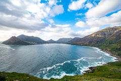 View from Chapmans Peak Drive on in South Africa stock photo