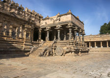 View on the chariot part of Mandapam. Royalty Free Stock Photos