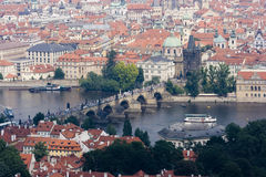 View on the Charles bridge Stock Photography