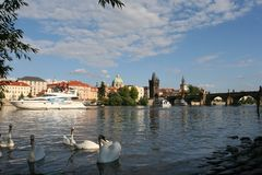 View on Charles bridge Royalty Free Stock Photos