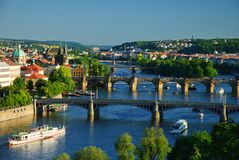 View of Charles Bridge Stock Photos