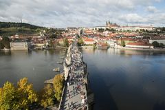 View of Charles bridge Karluv Most from the height. View of Charles bridge Karluv Most from the height Royalty Free Stock Image