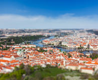 View of Charles Bridge over Vltava river, Prague Royalty Free Stock Image