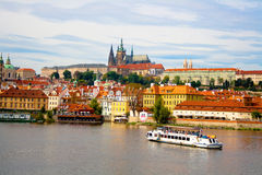 View from Charles Bridge in Prague. stock images