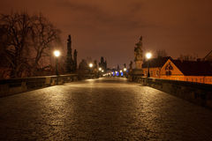 View of the Charles Bridge in Prague Royalty Free Stock Images