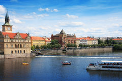 View from Charles Bridge. Prague Royalty Free Stock Images
