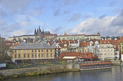 View from the Charles Bridge of Prague Royalty Free Stock Photo