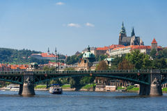 View from Charles bridge in Prague Stock Photos
