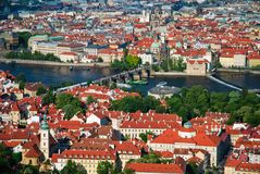 View of Charles Bridge in Prague Royalty Free Stock Photos