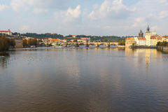 View of the Charles Bridge, Prague. Stock Photo