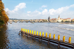 View of the Charles Bridge, Prague. Royalty Free Stock Image