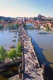 View of Charles Bridge, Prague, Czech Republic Royalty Free Stock Image