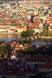 View from Charles Bridge,Prague, Czech Republic Stock Photography