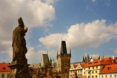 View from the Charles Bridge Stock Photo