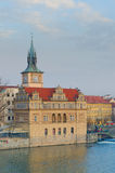 View from Charles bridge, Vltava river, Prague Royalty Free Stock Images
