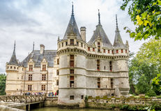 View at the chateau Azay le Rideau Royalty Free Stock Photo