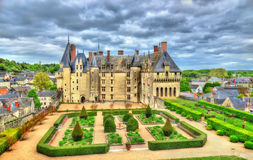 View of the Chateau de Langeais, a castle in the Loire Valley, France Stock Images