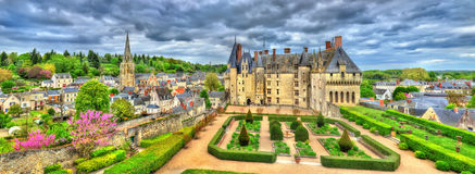 View of the Chateau de Langeais, a castle in the Loire Valley, France Stock Photography