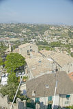 View from Chateau Grimaldi of Haut de Cagnes, France Royalty Free Stock Images