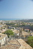 View from Chateau Grimaldi of Haut de Cagnes, France Stock Photos