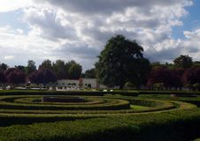 Chateau Troja park. View on the chateau Troja park in Prague, Czech Republic royalty free stock photos
