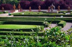 Chateau Troja garden. View on the chateau Troja in Prague, Czech Republic stock image