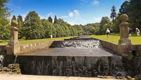 A View of the Chatsworth House Cascade, England Stock Photography
