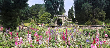 A View of the Chatsworth House Garden, England Stock Photos