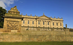 A View of Chatsworth House, Great Britain Stock Image
