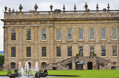 A View of Chatsworth House, Great Britain Royalty Free Stock Photo