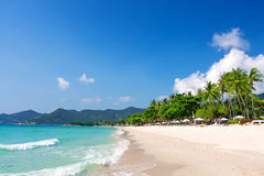 View of Chaweng beach, Koh Samui, Thailand Royalty Free Stock Images