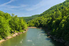 View of Cheat River from Jenkinsburg Bridge Royalty Free Stock Image