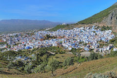 View of Chefchaouen, Morocco Royalty Free Stock Photos