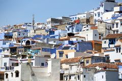 Street of Chefchaouen royalty free stock photography
