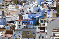 Street of Chefchaouen stock photo