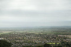 View of Cheltenham Racecourse from above Stock Image