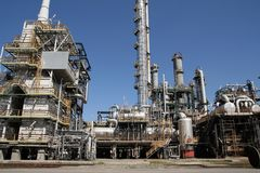 View of chemical factory. And blue sky Royalty Free Stock Photos