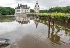 View on Chenonceau castle. Reflections of Chenonceau castle. Loire valley, France Stock Photo