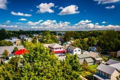View of Chesapeake City from the Chesapeake City Bridge, Marylan Stock Images