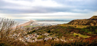 View of Chesil Beach Royalty Free Stock Image