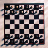 View of chess board from above Stock Photography