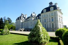View of Cheverny Château from garden royalty free stock images