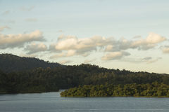 View of Chew lan lake in Thailand. Royalty Free Stock Photography
