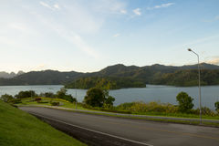 View of Chew lan lake in Thailand. Stock Photo