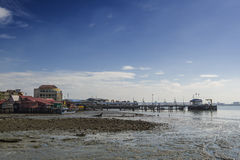 View from Chew Village Jetty, Penang, Malaysia Stock Photo