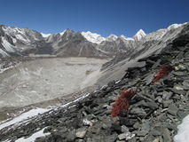 View from Chhukhung Ri, Nuptse Glacier Stock Image